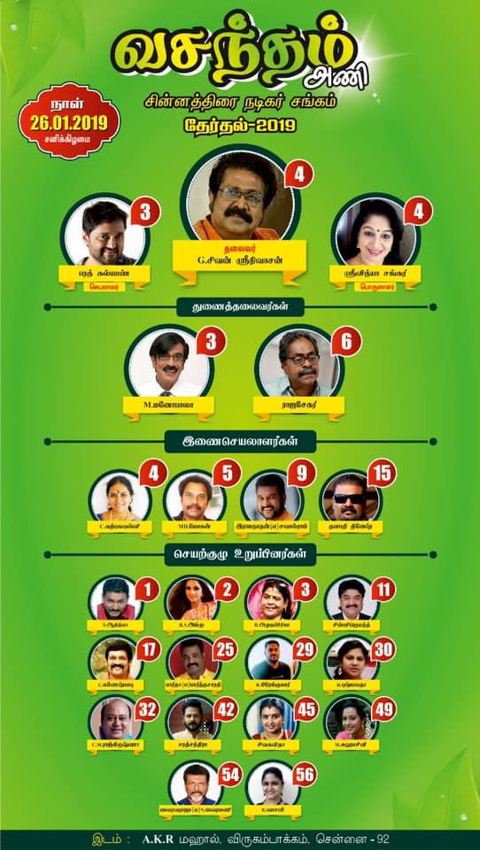 ஜனவரி 26-ம் தேதி சின்னத்திரை நடிகர் சங்கத்தில் தேர்தல்..!